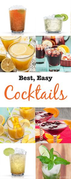 Easy, Refreshing Cocktails for all your summer gatherings!