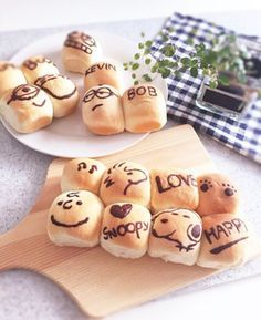 お惣菜ちぎりパン☆スヌーピー☆ミニオンズ Cookie Desserts, Dessert Recipes, Cute Food, Good Food, Bread Recipes, Cooking Recipes, Kawaii Dessert, Steamed Buns, Bread Cake