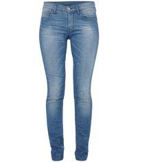 French Connection Blue Angel Jeans ($90) ❤ liked on Polyvore featuring jeans, pants, bottoms, calças, pantalones, blue, slim leg jeans, blue jeans, zipper jeans and french connection jeans