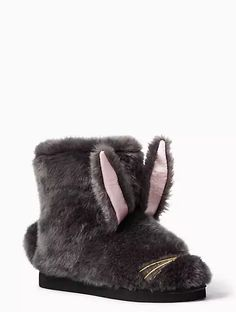 Kate Spade slippers http://www.refinery29.com/netflix-and-chill-products#slide-7  Keep your toes toasty in this updated version of extra-furry bunny slippers.Kate Spade New York Bethie Slippers, $98, available at Kate Spade. ...