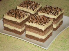 - Przekładaniec z masą czekoladową i kokosową Sweet Recipes, Cake Recipes, Delicious Desserts, Yummy Food, Cake Bars, Polish Recipes, Homemade Cakes, Sugar Cookies, Sweet Tooth