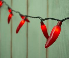 chili pepper fiesta string lights plug in indoor outdoor 35 red bulbs. Black Bedroom Furniture Sets. Home Design Ideas