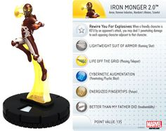 Iron Monger 2.0 #037 Invincible Iron Man Booster Set Marvel Heroclix