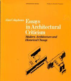 alan colquhoun essays in architectural criticism
