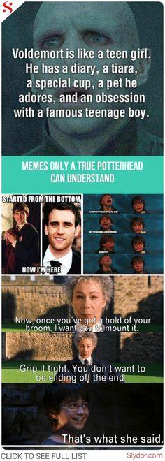 Harry Potter Memes - Only A True Potterhead Can Understand#harrypotter #harrypotterforever #fandom #memes #potterhead #funny #funnymemes #love