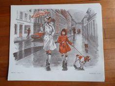 les parapluies cherbourg Promenade Ancienne Affiche scolaire MDI LECTURE loft