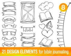 36 PRINTABLE TEMPLATES for bible journaling verse art