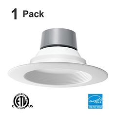 """18W (120W Equivalent) 5/6"""" LED Recessed Downlight Retrofit Can Light ENERGY STAR 3000K (Warm White) 1170 Lumen CRI90 * Check out the image by visiting the link."""