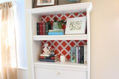 3 Awesome DIY Makeovers You Can Totally Do This Weekend: Bookshelf Lattice Makeover - After