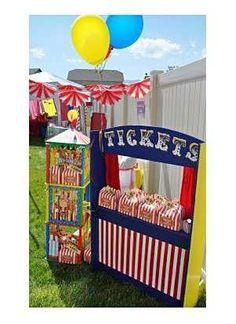 Fiesta circo A home-made ticket booth for a circus party! Circus Carnival Party, Circus Theme Party, Carnival Birthday Parties, Circus Birthday, Birthday Party Themes, Carnival Ideas, Kids Carnival, Circus Circus, Birthday Ideas