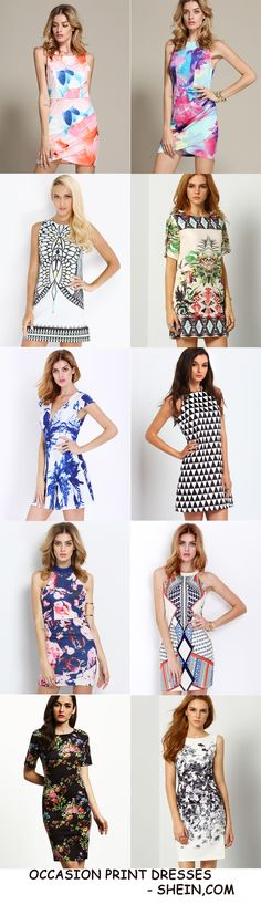 Vintage Print Dresses from Shein - Perfect for so many occasions!!!