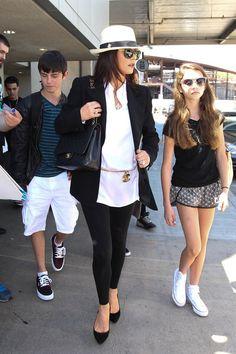 Catherine Zeta Jones, kids, & Chanel classic bag