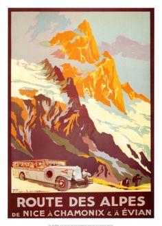 Fahrt durch die Alpen Kunstdruck