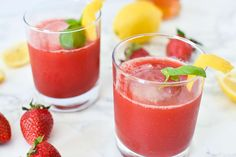 Easy Strawberry Basil Cocktail | I Can You Can Vegan