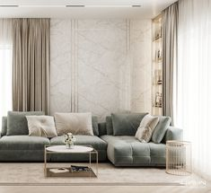 Here is a sneak peek at our latest apartment design. Keep an eye on us to see more :) Project designed… Classic Living Room, Living Room Modern, Living Room Interior, Home Living Room, Living Room Decor, Home Room Design, Home Interior Design, Living Room Designs, Apartment Design
