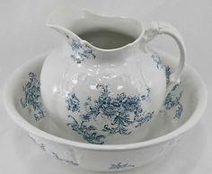 Antique-Trilby-J-M-S-Co-Wash-Basin-Pitcher-with-Blue-Floral-Design