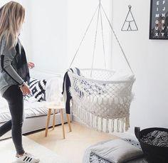 outstanding 15 Handmade Burlap Baby Swing for Your Kids Hanging Bassinet, Hanging Cradle, Baby Bassinet, Baby Cribs, Baby Bedroom, Nursery Room, Nursery Themes, Girl Room, Baby Needs