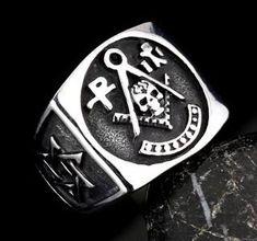 HOT SALE $14.99 - Stainless Steel Skull Master Mason Signet Ring - Free Masonic Ring RING - Masonic Jewelry Free Masonic Ring - FreeMasonicRing.com