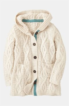 Great sweater, love that it has a hood too, perfect for layering ...
