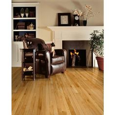 Natural Oak Smooth Solid Hardwood - 3/8in. x 2 1/4in. - 942700671   Floor and Decor