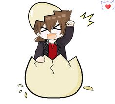 Cute Hyoudou Issei (DxD) Chibi from egg >.<