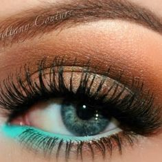 Soft Bronze with a Pop of Color