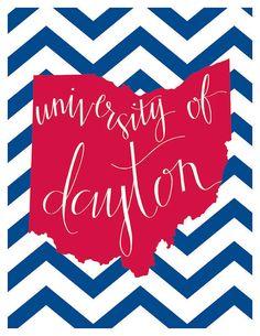 University Tech College set of 25 Graduation Cards University of Dayton Graduation Announcement Ohio