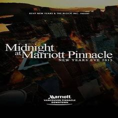 Midnight At The Marriott at Vancouver Marriott Pinnacle Downtown Hotel, 1128 West Hastings Street, Vancouver British Columbia, V6E 4J6, Canada on Dec 31, 2014 to Jan 01, 2015 at 7:30pm to 4:00am.  This Celebration is about one thing: the countdown to a new year, a new beginning. How you arrive to the countdown becomes a part of your story. This year, we invite our guests at the Marriott Pinnacle to experience NYE.  URL: Booking: http://atnd.it/18765-1  Category: Nightlife  Price: See Website
