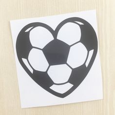 Soccer Heart Decal - Soccer Sticker - Soccer Car Decal - Soccer Gifts - Soccer Girl - Sports Decal - Soccer Mom Decal - Water Bottle Decal by SimplyGracefulDesign on Etsy