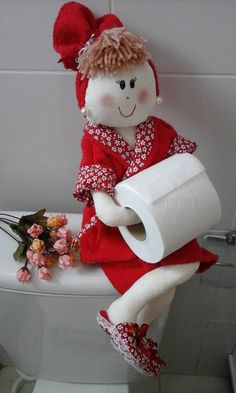 boneca porta papel higiênico - decoração sem marca