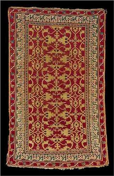 "An Oushak ""Lotto"" rug, West Anatolia, early 16th century"