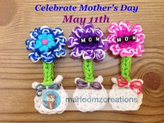Rainbow loom Flower for Mother's Day
