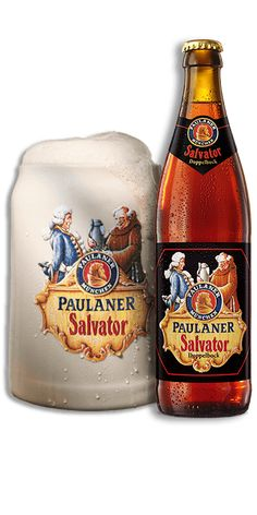 Our brewing history begins with this beer. And the history of strong beer in Bavaria – it was the Paulaner monks who invented this bottom-fermenting double Rum Beer, Beer Mugs, Paulaner Bier, Bar Drinks, Alcoholic Drinks, Dark Beer, Wheat Beer, Beer Brands, German Beer