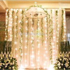 DC300-110 3*2M 300LED Fairy light string White Lamp Curtain memo function 110V