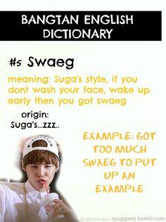 Bangtan English Dictionary - Swaeg