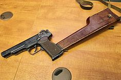 The Stechkin automatic pistol was originally chambered for 7.62×25mm Tokarev. Stechkin changed the pistol to the 9 mm caliber used in the new Makarov pistol (PM), as it became clear that this cartridge was set to become the new service ammunition for handguns of the Soviet Army. In 1951, both the Makarov and Stechkin were introduced into the Soviet military arsenal, replacing the aging Tokarev pistol (TT-33).