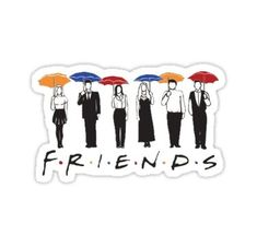 """Friends TV Show Umbrella "" Stickers by tlaprise Meme Stickers, Tumblr Stickers, Phone Stickers, Cool Stickers, Printable Stickers, Craft Stickers, Friends Tv Show, Tv: Friends, Friends Series"