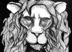 Lion with pen Artwork | Bulleke