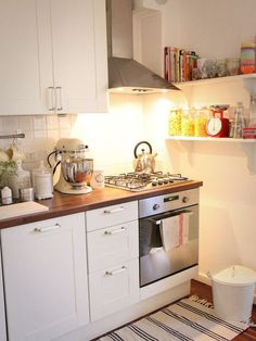 Small Kitchen Design, Pictures, Remodel, Decor And Ideas   Love The Wooden  Butcher Block Style Counters