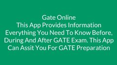 GATE Online Test series provide detailed feedback of your performance & also practice tests in actual environment. It can be easily accessible from anywhere & any place to identify weak/ strong areas. GATE Academy's Online Test Series App is designed to provide exactly same exam environment as in real GATE exam. Get more information here: https://play.google.com/store/apps/details?id=com.gingerwebs.GateAcademy