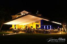 Night view of the Hacienda Tekik de Regil | mexico wedding receptions
