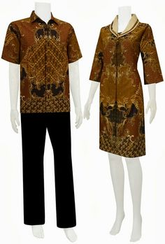 Baju batik modern dress sarimbit