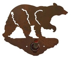Black Bear Bath Accessories Steel over by CabinExclusive
