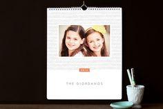 Handdrawn Herringbone Grand Calendars by Jennifer Wick at minted.com