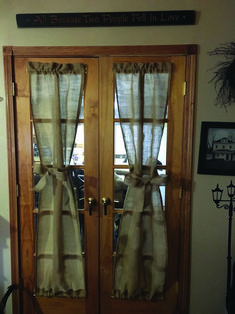 most popular french door window models tips for french door window treatments 58 French Door Windows, French Doors Bedroom, French Door Curtains, French Doors Patio, Windows And Doors, Primitive Curtains, Rustic Curtains, Double Patio Doors, Double Doors