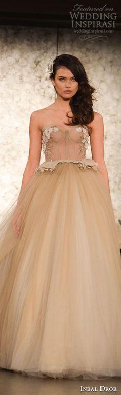 New York Bridal Fashion Week Day 1: Kelly Faetanini, Inbal Dror, Claire Pettibone Inbal Dror Fall 2016 Ball Gown Wedding Dress #weddingdress #weddingdresses #bridal #nybfw #nybm #bfw #newyorkbridalmarket #newyorkbridalfashionweek #newyorkbridalweek #runway #fashionshow #ballgown #runway
