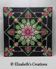 Mandala Art - Mandala Painting - Painted Mandala - Hand Painted Mandala -Mandala - Dot Art - Pointillism - Mediation Mandala