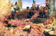 """The Roses of Heliogabalus"" by Sir Lawrence Alma-Tadema, 1888  Style: Romanticism"