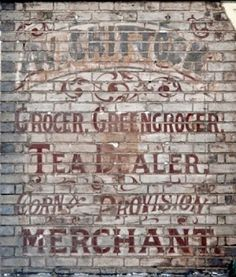 """""""Ghost Signs"""" - the art of Old Brick Wall Advertising Painted Brick Walls, Old Brick Wall, Faux Brick Walls, Advertising Signs, Vintage Advertisements, Vintage Ads, Building Signs, Brick Building, Building Art"""