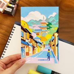 21 Days In Japan: Artist Recreates Scenes Of Japan Through Pleasing Pastel-Colored Illustrations Marker Kunst, Posca Marker, Marker Art, Gouache Painting, Painting & Drawing, Drawing Tips, Molotow Marker, Art Sketches, Art Drawings